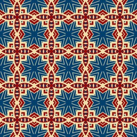 Stickers carrelage bordeaux et bleu