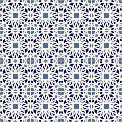 Stickers carrelage blanc et bleu