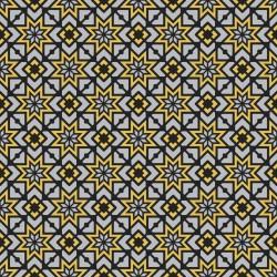 Stickers carrelage jaune