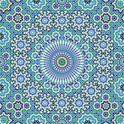 Stickers carrelage vert et bleu