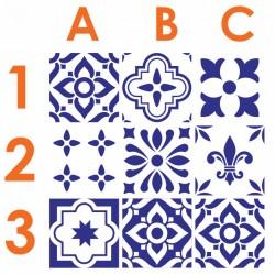 Stickers carrelage ciment bleu foncé